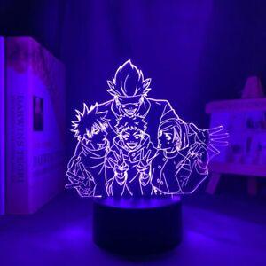 LED Night Light Satoru Gojo Team Room Decorations Birthday Gift Anime 3D Lamps