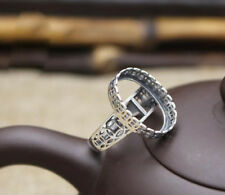 925 Sterling Silver Ring Blank | 13x18mm Oval Setting | antique finition argent