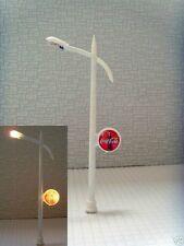 S104 - 10 Stück Peitschenleuchten mit Werbeschild beleuchtet Straßenlampen