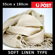 NEW Creamy Light Beige Linen Type scarf throw shawl wrap - XMAS GIFT FREE WRAP