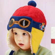 Winter Baby Earflap Toddler Girl Boy Kids Pilot Aviator Cap Warm red Beanie Hat