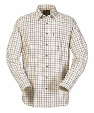 Musto Mens Twill Check Shirt Dark Chilli - Various Sizes Available CS1010