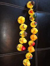 Lot of 15 Rubber Ducks - Assortment Bath Toys  Lot 2