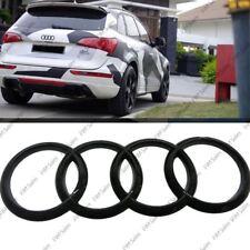 schwarz glänzend hinten Kofferraum Emblem Ringe Logo Logo für Audi Q3 Q5 Q7