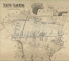 East New York New Lots NY 1873  Street Maps  Nice Detail  4 Maps