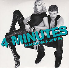 CD CARTONNE CARDSLEEVE 2T MADONNA 4 MINUTES feat TIMBERLAKE 2008 NEUF SCELLE
