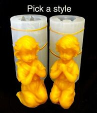 4'' silicone praying girl boy candle soap resin mold handmade