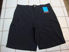 Columbia PFG  Hybrid Shorts Hiking Black Fishing Omni Shield Mens 32 10L NEW