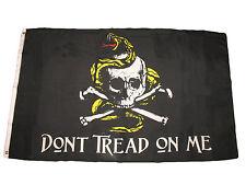 3x5 Jolly Roger Pirate Gadsden Don't Tread On Me Premium Flag 3'x5' Grommets