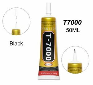 T-7000 Glue 50ml Craft Permanent Adhesive Jewelry Crystal Precision Tip BLACK