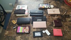 Kate Spade, Vera Bradley, Gold coast, lot of 10 wallets, coin purses etc etc NEW