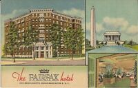 Washington, DC -  Fairfax Hotel - Multiview - 1952 - LINEN
