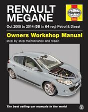 Renault Megane Petrol & Diesel Oct 2008 - 2014 Haynes Manual 5955 NEW