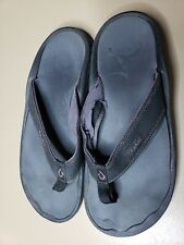 OluKai Ohana Black Thong Sandals Slides Flip Flops Mens Sz.10 US