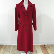 JACQUES VERT Red Coat Casual Formal Winter Autumn Outerwear UK Size 12 29436