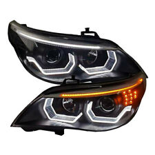 2Pcs Xenon Headlight assembly Fit For BMW 5 Series E60 HID Beam Lens 2004-2007