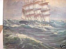 Ergebnissen 1 - Leinwand gemalt und vom Künstler signiert und datiert auf Leip RIGA - Ansicht mit Segelschiffen, vorn ein Holzfl?z.