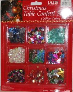 3 TABLE CONFETTI SETS