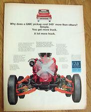1966 GMC Pickup Truck Ad  Cut a Way View