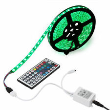 5M RGB 5050 Waterproof 300 LED Strip light 44 Key Remote 12V US Power Full Kit