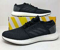 Adidas PureBoost GO Mens Running Shoes Neutral Black/Grey-White AH2319 (NEW)