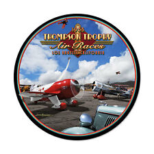 Air Races 1933 Round Metal Sign - Hand Made in the Usa with American Steel