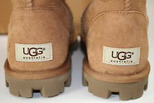 NIB UGG Size 7 Womens Chestnut 100% Suede Shearling Lined ESSENTIALS TALL Boot