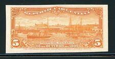 Argentina Rosario Port Specialized: Scott #143 5c Orange PROOF GALZED $$$