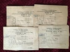 1921 Original French Antique MODE PRATIQUE Patterns factory fold
