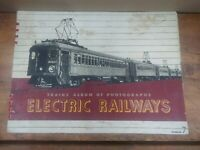 Trains Album of Photographs Electric Railways No. 7 Spiral Bound 1944 21 pgs D15
