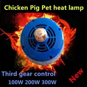 Cultivation Heating Lamp Thermostat Fan Heater 100-300w  Egg Reptile