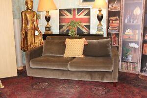 HABITAT chester range velvet grey sofa new costs £1500