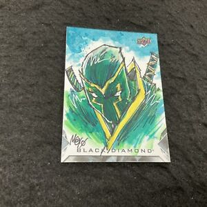 Hand Drawn Sketch Card 1/1 MAYO Artist Auto 2021 Upper Deck Marvel Black Diamond