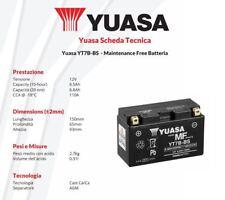 BATTERIA DE MOTO YUASA YT7B-BS 12V 6,5 AH Kymco Quannon - 125 cc - años: 2008 >