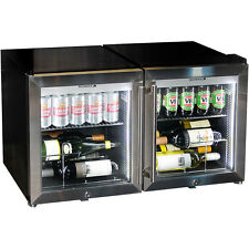 Brand New Bar Fridge Combo Triple Glazed Tropical Glass Door Alfresco - 100Litre