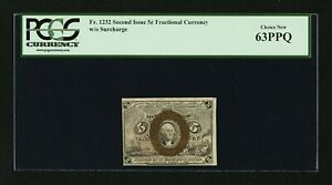 (1863-67 ) 5c Fractional Currency - Second issue PCGS 63 PPQ-RARE POP 6