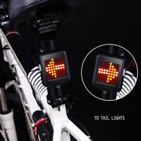 USB Rechargeable LED Tail Light Turn Signal Rear Brake Lamp bike Bicycle Light