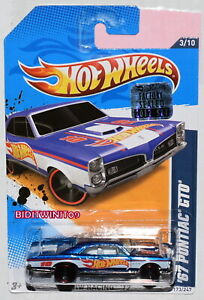 HOT WHEELS 2012 HW RACING '67 PONTIAC GTO BLUE FACTORY SEALED