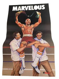 1980's Marvelous Mavin Hagler Boxing Poster, Etonic Advertising, Irena Roman