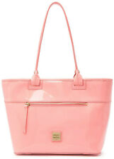 Dooney & Bourke Patent Leather Zip Tote Shoulder Bag Handbag in Pale Pink