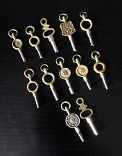 12 Antique Vintage Pocket Watch Winding Keys