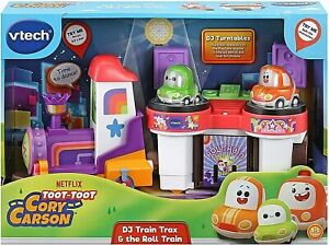 Vtech Toot-Toot Cory Carson DJ Train Trax & The Roll Train Set New Kids Xmas Toy