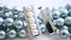 vintage Akoya Zucht Perlen Armband 835 Silber ca. 37,01 Gramm