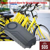 113dB inalámbrico antirrobo vibración motocicleta bicicleta alarma remoto