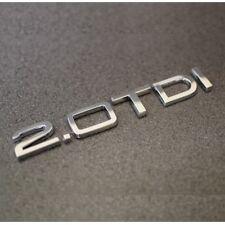 New 2.0 TDI Chrome Badge Emblem A1 A2 A3 A4 A5 A6 A7 A8 Q3 Q5 Q7 TT Audi 2.0tdi