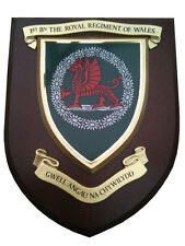 1st Royal Regiment of Wales Military Shield Wall Plaque