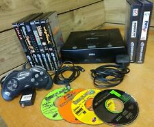 Sega Saturn Console 8 Games Boxed & Manuals + 4 Demo Discs Bundle Tested Working