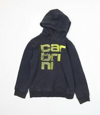 Carbrini Boys Blue  Jersey Pullover Hoodie Size 8-9 Years