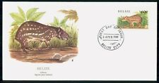 Mayfairstamps Belize 1989 Gibnut Agouti Paca Nelsoni first Day Cover wwf98861