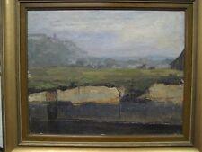 Ölbild Agnes Wieslander Dachau Moor TOPBILD !!! Thieme - Becker - Vollmer